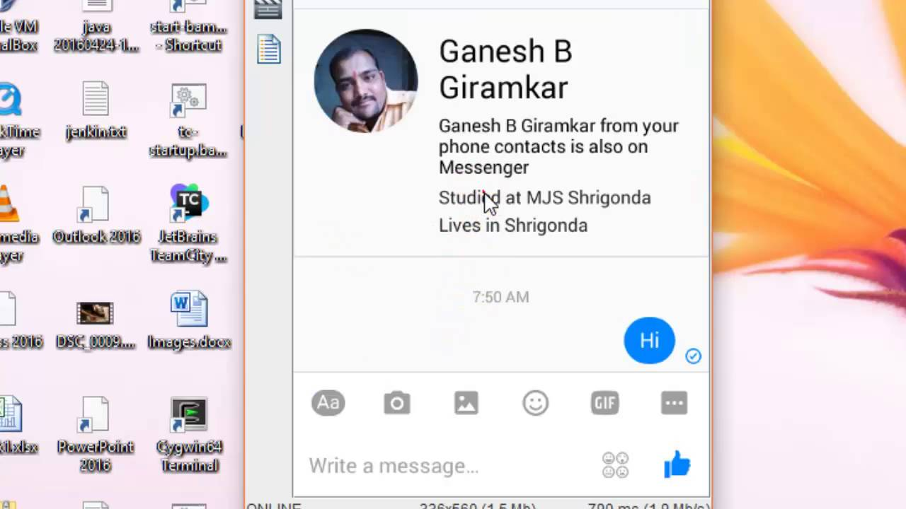 How to create a chat shortcut in Facebook messenger android app