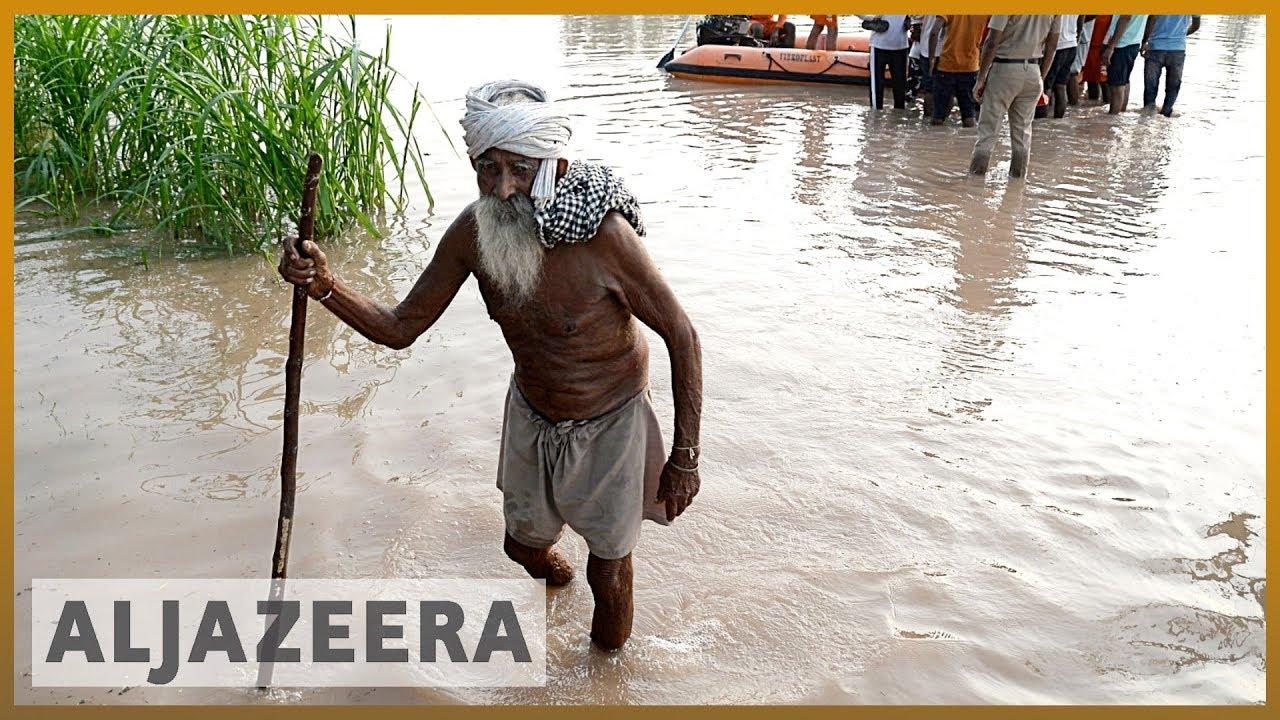 AlJazeera English:India floods: Monsoon rains destroy homes and farms