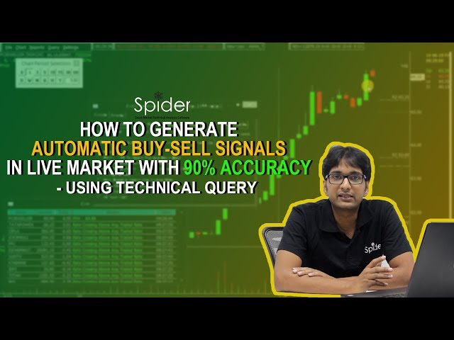 How to generate AUTO BUY SELL signals with 90% Accuracy | Technical Query | Spider Software
