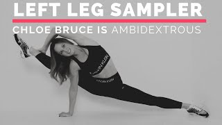 Chloe Bruce is ambidextrous | left leg kicking Sampler
