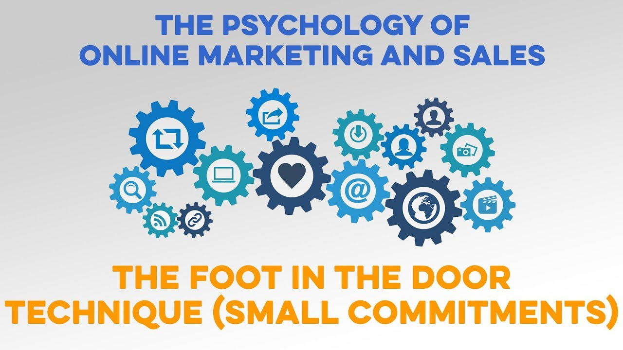 The Foot In The Door Technique Small Commitments Marketing Psychology Youtube