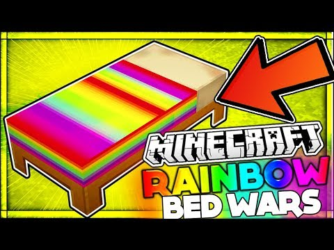 RAINBOW BED WARS AGAINST HACKERS?? | Minecraft Bed Wars