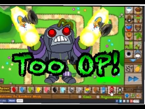 Make Technological Terror Have Temple Powers - Bloons TD 5 PC Flash