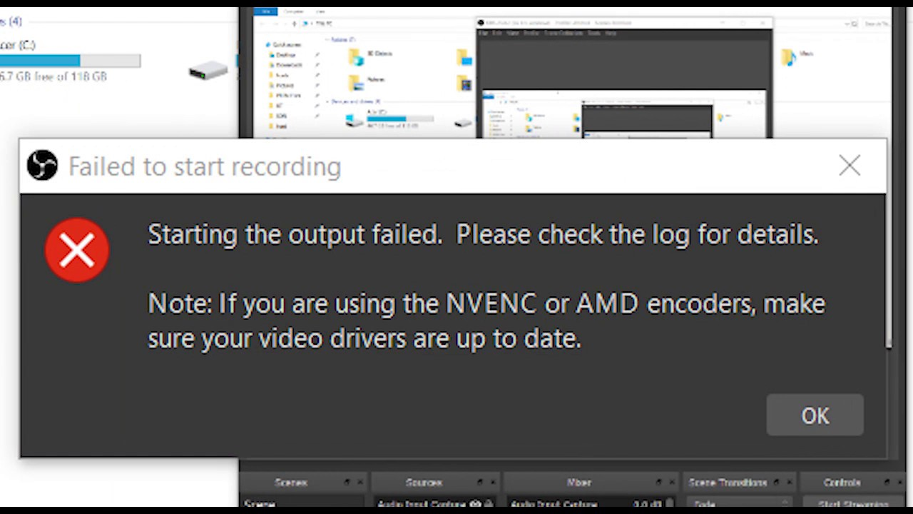 OBS: Failed to start recording FIX (2019)