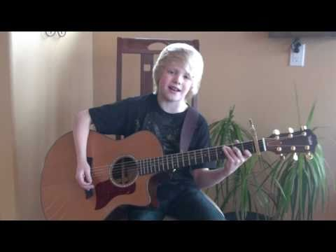 Greyson Chance - Waiting Outside the Lines acoustic cover by 9 yr. old Carson Lueders