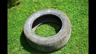 OLD CAR TIRE ???  DO NOT THROW OLD CAR TIRE IN THE TRASH / Smart Recycling