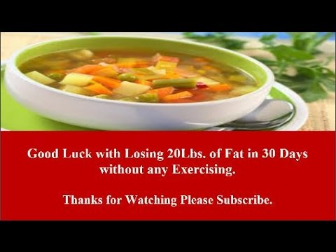 How To Lose 20 Lbs. of Fat in 30 Days without any Exercising