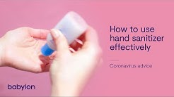 Coronavirus | How to use hand sanitizer effectively