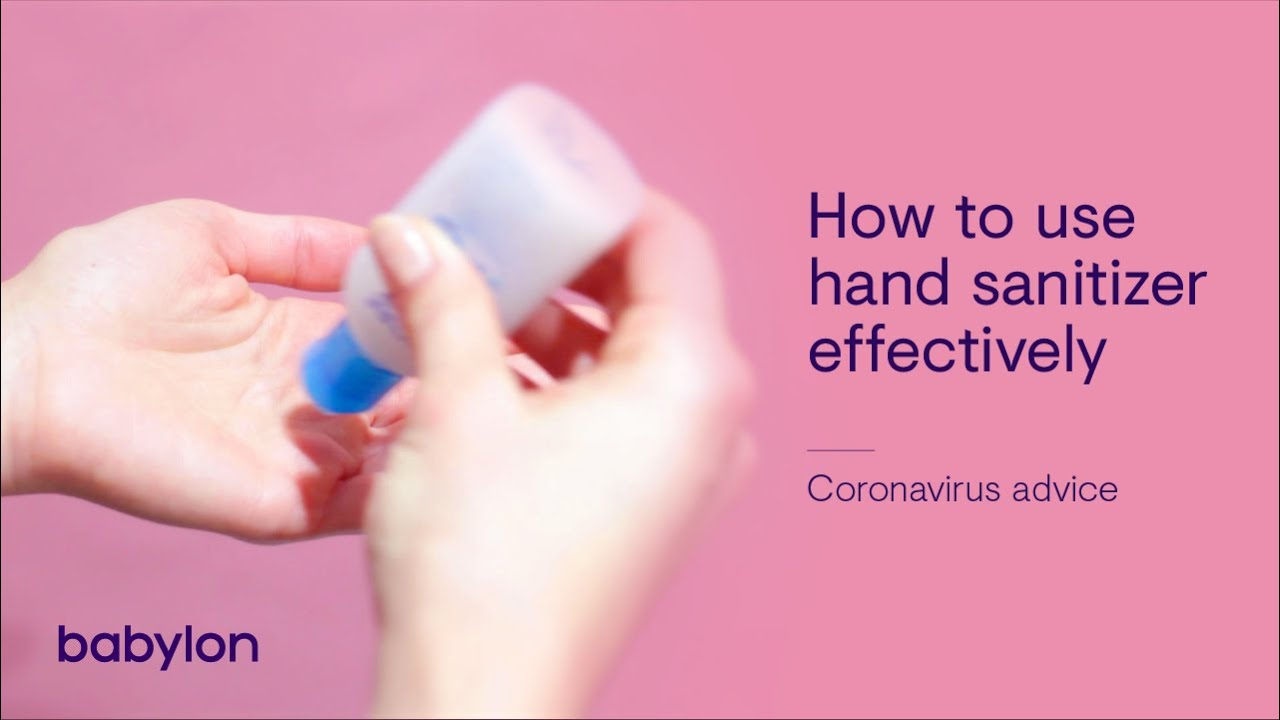 Coronavirus How To Use Hand Sanitizer Effectively Youtube