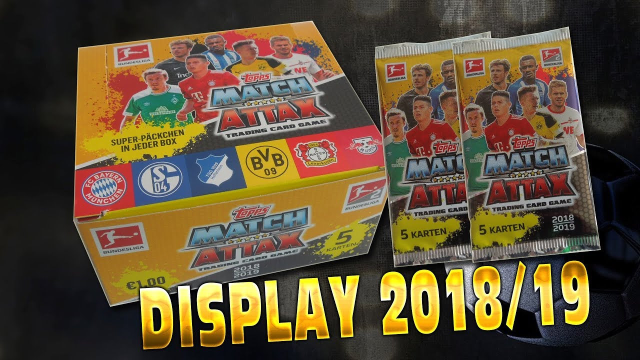 50 Packs Match Attax 2018 19 Bundesliga Full Dislay Box