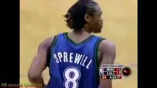 NBA Duels: Latrell Sprewell (27) vs. Kobe Bryant (20) Gm 6, 2004 Playoffs