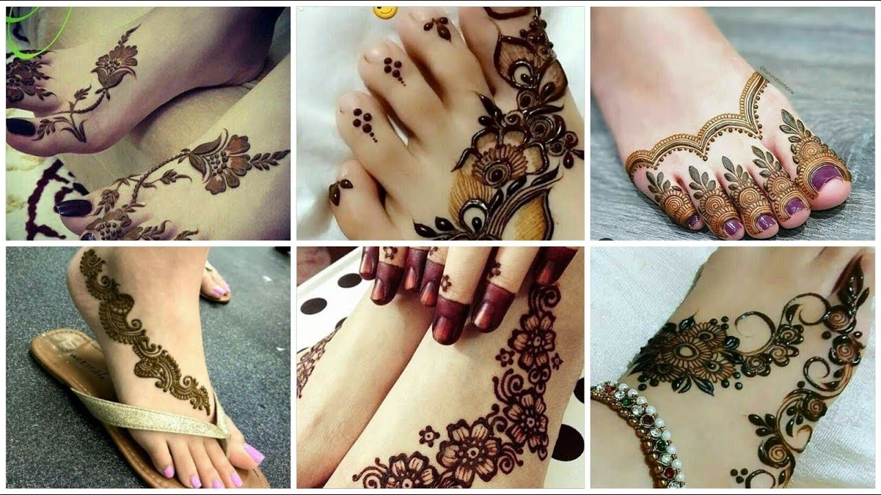 Simple Feet Mehndi Design Collection , The Design Mark