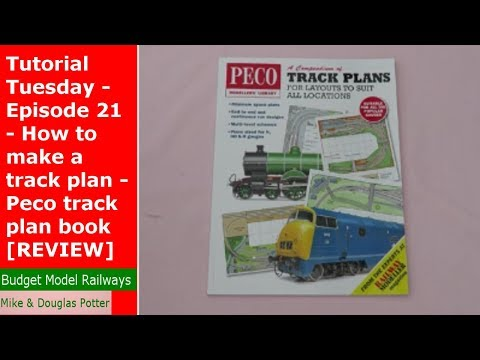 Tutorial Tuesday – Episode 21 – How to make a track plan – Peco track plan book [REVIEW]