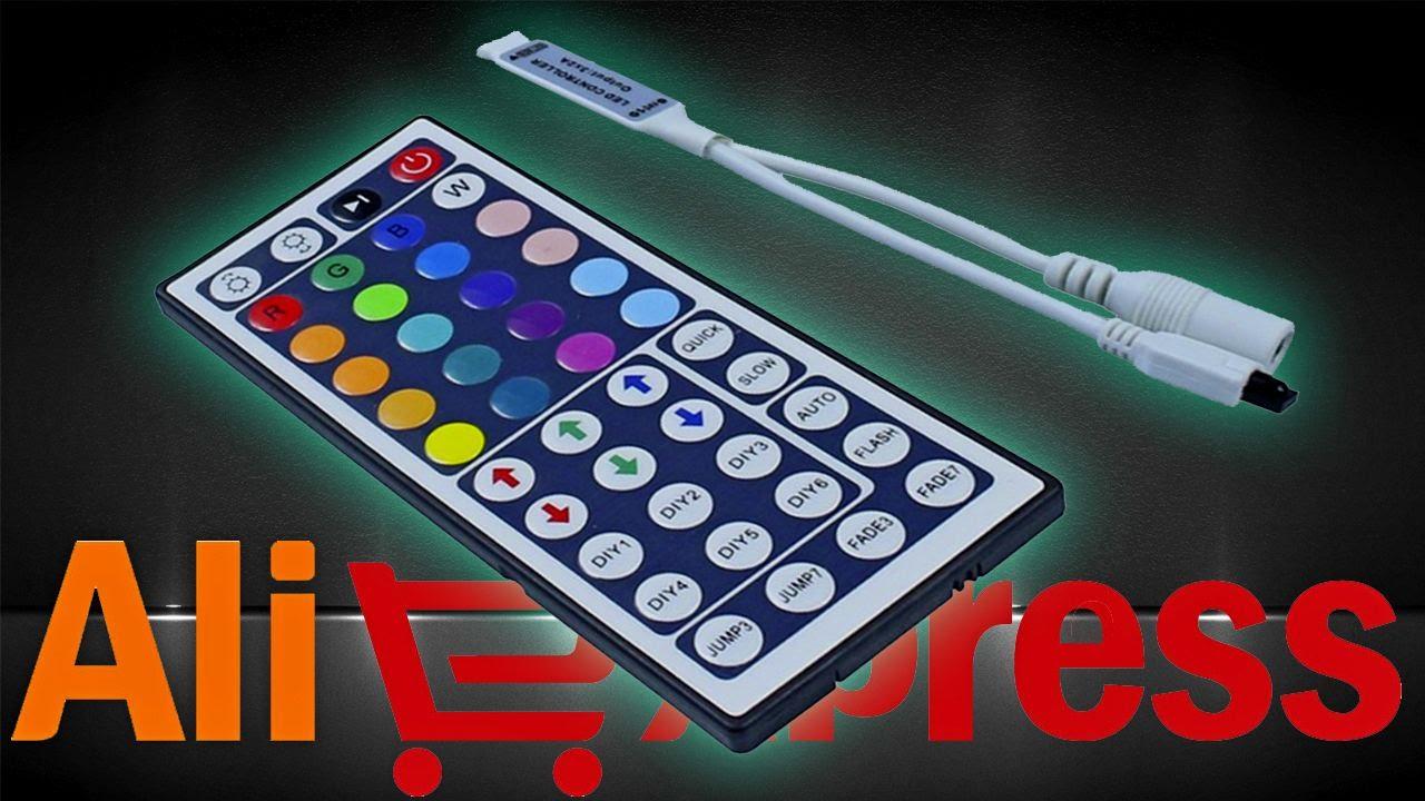 Контроллер для светодиодной RGB-ленты с пультом ДУ на 44 кнопки. Aliexpress