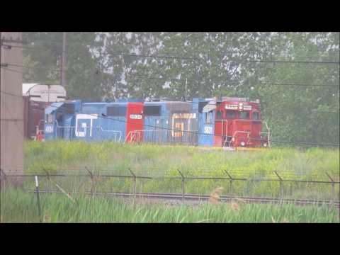 Grand Trunk Western (GTW) Geeps at Work in Flat Rock, Michigan.