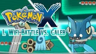 Pokemon X Wi-Fi Battle: 1. Kampf gegen Caleb nach 2. Arena