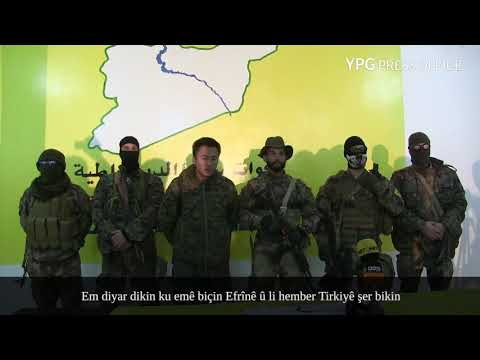 International volunteers of #YPG state their determination to defend #Afrin