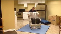 Highland Moving: How to Blanket Wrap an Arm Chair