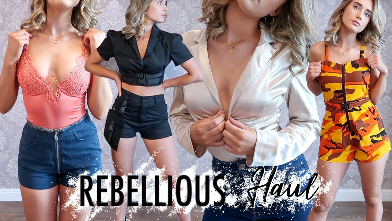 HUGE REBELLIOUS FASHION TRY ON HAUL!! Summer Outfits 2019 7