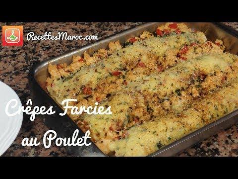 recette-crêpes-farcies-&-gratinées-au-poulet