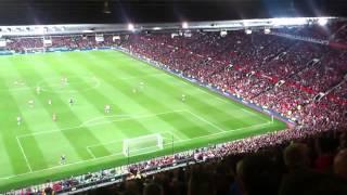 Liverpool fans @ OT Rooney song(fat granny shagger)