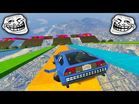 MINIJUEGO TROLL! CAMINOS DE COLORES! - GTA 5 ONLINE - GTA V ONLINE