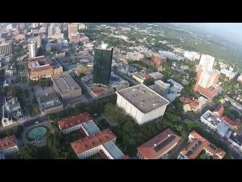 Drone views of UT Austin and downtown Austin. 7/27/14