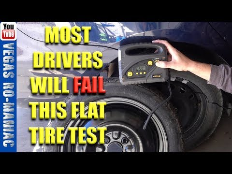 🤔 Most DRIVERS will fail this FLAT TIRE test 🤔 🤗 AUTLEAD c5 Tire Inflator REVIEW