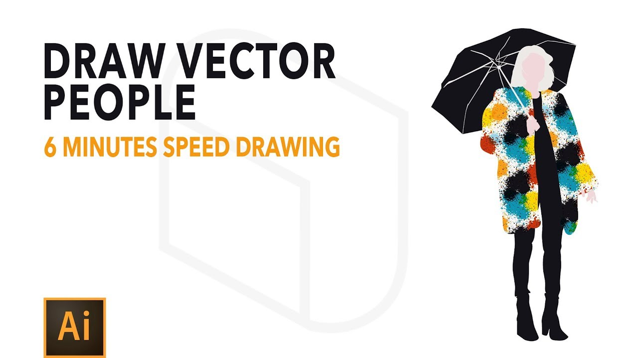 Adobe Illustrator Tutorial How To Draw Vector People Youtube