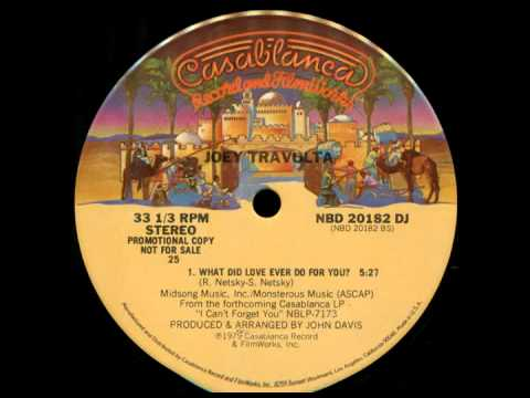 Joey Travolta What Did Love Ever Do For You 1978 Maxi