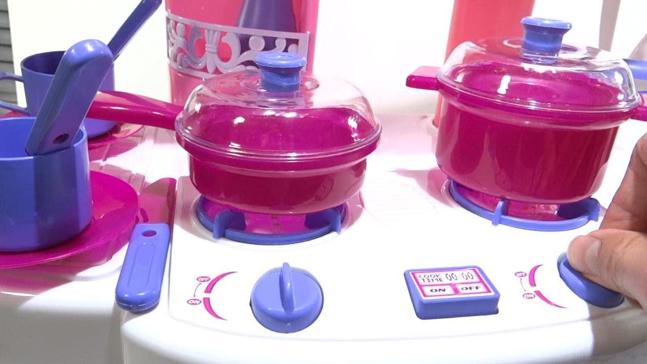 Cocina de juguete para ni as con horno luces y sonidos for Juego utensilios cocina