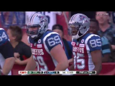 July 29, 2016 - Kevin Glenn 6 yard touchdown pass to BJ Cunningham