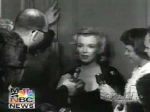 Marilyn Monroe interviewed about Arthur Miller shock marriage proposal.rare.flv