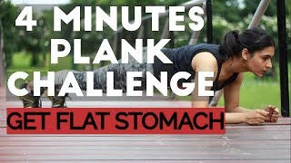 4 Minutes PLANK CHALLENGE // Get Flat Stomach With Mukti Gautam  / Best Workout For Stomach Fat