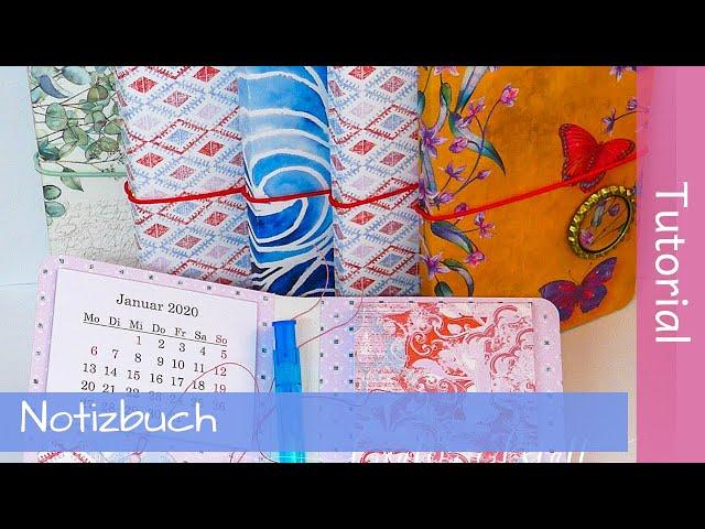 Notizbuch mit Mini-Kalender - Notebook -  Stampin' Up! - Tutorial - YouTube