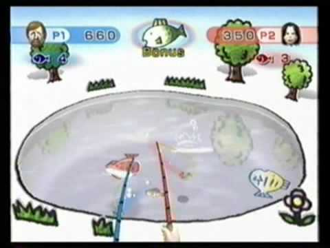 Wii Play Multiplayer: Fishing