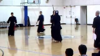 Kendo 2012 Japan Highschool Team vs USA SoCal Youth: Fukusho