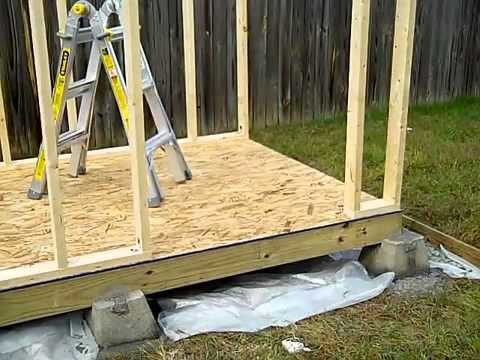 How to build a shed part 1 shed foundation youtube for How to build a block foundation