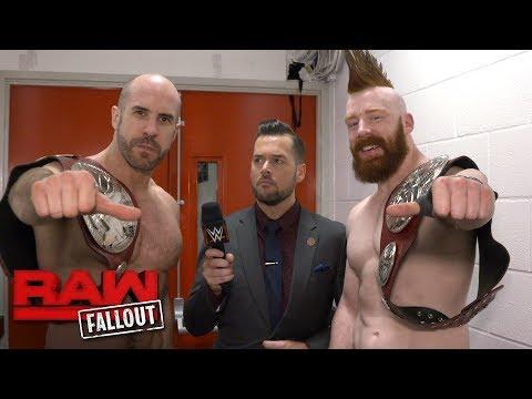 Cesaro & Sheamus celebrate their Raw Tag Team Championship victory: Raw Fallout, Nov. 6, 2017
