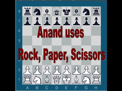 Anand uses  Rock, Paper, Scissors chess technique