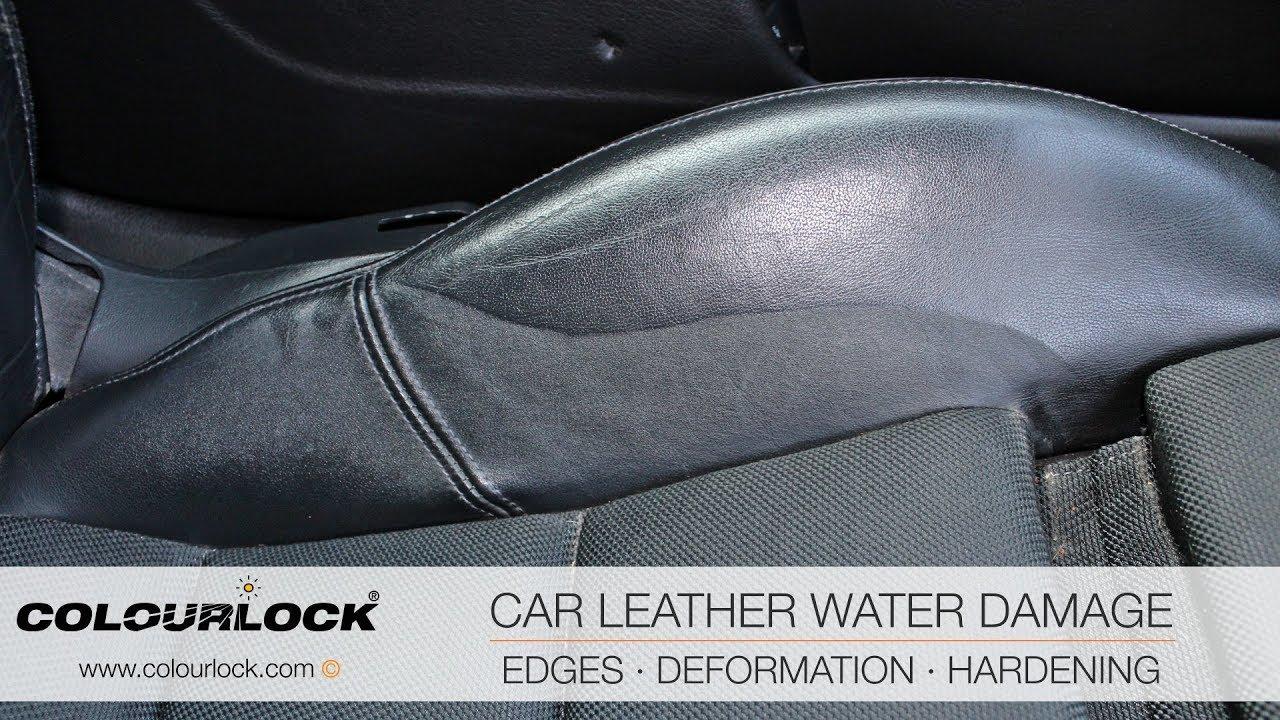 car leather water damage youtube. Black Bedroom Furniture Sets. Home Design Ideas