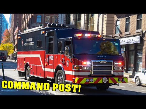 *RARE* [COMMAND POST & AIR UNIT RESPONDING!] - Montreal Fire Station 5 | Different Fire Calls!