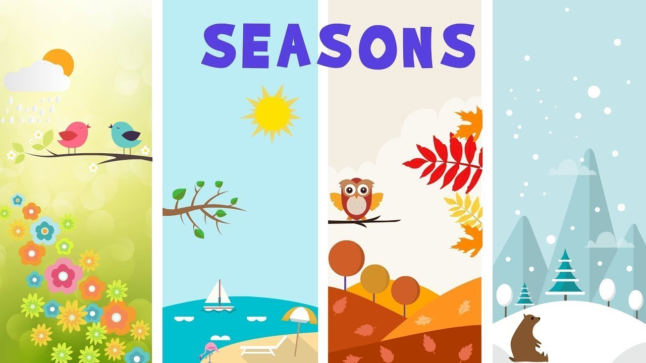 Download Kids vocabulary - Four Seasons - 4 seasons in a year - English educational video for kids