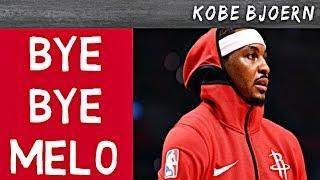 Wohin mit Carmelo Anthony?? Rockets entlassen Melo nach 10 Spielen - Kobe Bjoern