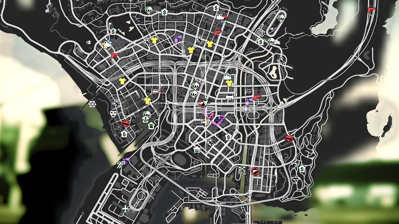 GTA 5 PC Mods  Colored Map Icons  Version 01  YouTube