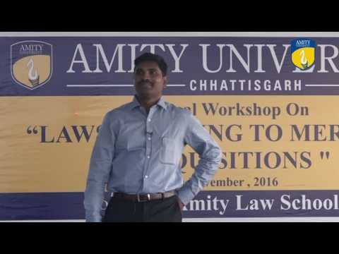 Dr Kondaiah Jonnalagadda Presentation at Amity Law School Raipur