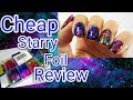 Starry Night Foil Review! Cheap Transfer Foil Sheets For Nail Art