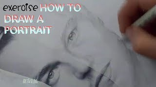 HOW TO draw a portrait - easy exercise