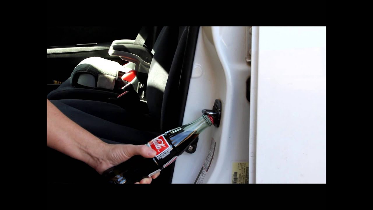 how to use your car door latch as a bottle opener youtube. Black Bedroom Furniture Sets. Home Design Ideas