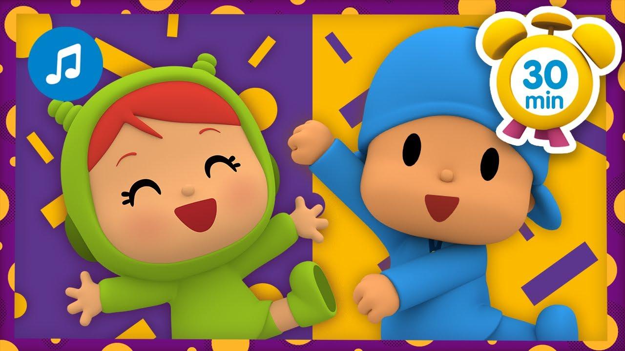 🎶 MÚSICA INFANTIL do POCOYO - Move o corpo [30 minutos] | Karaoke e desenhos animados para Crianças